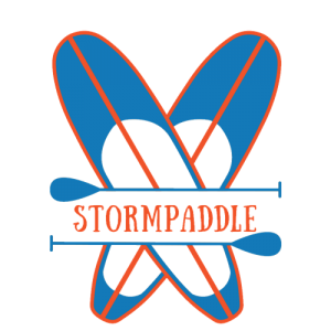 stormpaddle.com logo all about stand up paddle boards and SUP